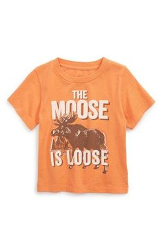 Peek 'Moose is Loose' Graphic Cotton T-Shirt (Baby Boys) available at #Nordstrom