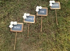 Bridesmaid Bouquet Alternative, add small chalkboards to each bouquet, this would be cute!!