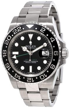 813b5bb811 Rolex GMT Master II Black Index Dial Oyster Bracelet Steel Men s Watch  Sport Watches