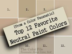 From a Color Fauxnatic Top 12 Favorite Neutral Paint Colors - The Color File Neutral Paint Sherwin-Williams