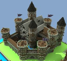 Haus Bauen how do tou build a castle on minecraft ipad Château Minecraft, Minecraft Castle Walls, Minecraft Medieval Castle, Minecraft Castle Blueprints, Amazing Minecraft, Minecraft Construction, Minecraft Designs, Minecraft Creations, Minecraft Crafts