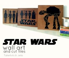 Ella and I are excited to see the new Star Wars movie tomorrow. To celebrate I'm sharing some fun Star Wars wall art and free cutting files if you want to make some :) ⭐️⭐️⭐️ xoxox Star Wars Birthday, Star Wars Party, Star Wars Bathroom, Bathroom Art, Star Wars Silhouette, Silhouette Cameo, Star Wars Wall Art, Star Wars Crafts, Lego Wall