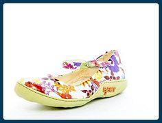 Eject Damen Schuhe Ballerinas Bunt Sommer Blumen Muster Leder Größe 37 - Ballerinas für frauen (*Partner-Link)