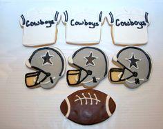 Dallas Cowboy football cookies.via Etsy.