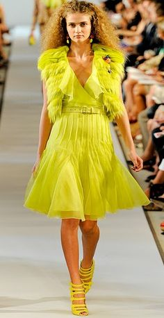Love the color.  Love the dress