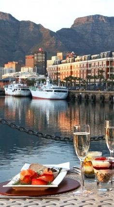 Grab a bite in Cape Town, South Africa - Victoria & Alfred Hotel Places Around The World, Travel Around The World, Around The Worlds, Places To Travel, Places To Go, Travel Things, V&a Waterfront, Le Cap, Cape Town South Africa