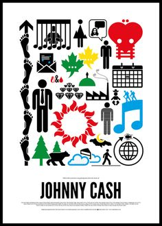 Maximalist Pictogram Posters for Rock 'n' Roll Icons by Viktor Hertz. See more on http://www.flavorwire.com/300845/maximalist-pictogram-posters-for-rock-n-roll-icons?all=1#