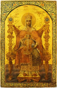 Cross Stitch patterns and kits, Mother of God on a Throne, Nogovicin Peter,Wolves Ilya Peter Wolf, Christian Artwork, Queen Of Heaven, Religious Paintings, Byzantine Icons, Madonna And Child, Orthodox Icons, Arabian Nights, Mother Mary