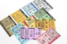 Horse Racing Tickets  Win Place Show Exacta by VintageInkPrints