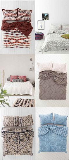 Bedding from Urban Outfitters via Justina Blakeney's blog