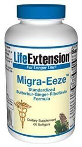 Migra-Eeze™, Standardized Butterbur-Ginger-Riboflavin Formula, 60 softgels by Migra-Eeze. $17.99. Migra-Eeze™Standardized Butterbur-Ginger-Riboflavin Formula60 softgelsItem Catalog Number: 709 In Germany, doctors are recommending a natural extract from the herb butterbur to those who suffer from regular episodes of head cavity discomfort. In clinical trials in both Germany and the United States, butterbur reduced the incidence of head cavity discomforts by up to 61%.1,2...