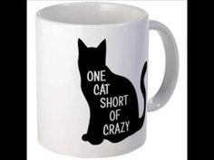 One Cat Short Of Crazy 11 oz Ceramic Mug One Cat Short Of Crazy Mugs by SaltyStarDesigns - CafePress Crazy Cat Lady, Crazy Cats, Cat Mug, Toys For Girls, Mug Designs, Vivid Colors, Cat Lovers, Coffee Mugs, Ceramics