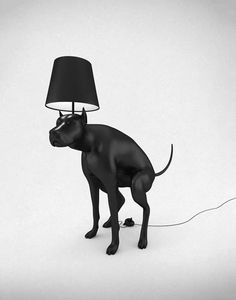 Pooping Dog Lamps by Whatshisname. LOL I kinda want to get this for my brother.