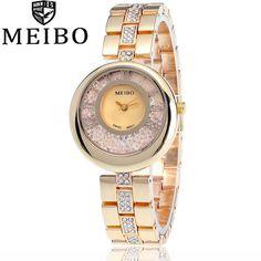 MEIBO Brand Women Luxury Steel Strap Watches Diamonds Clock Ladies Fashion Bracelet Watch Montre Dress Femme Relogio Feminino