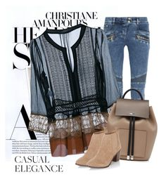 """""""Casual Elegance"""" by nightowl59 ❤ liked on Polyvore featuring Balmain, Alberta Ferretti, Michael Kors and New Look"""