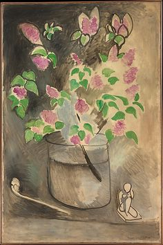 Lilacs, 1914, oil on canvas, French, Matisse