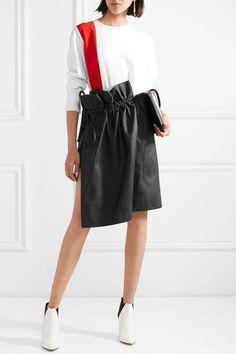 Stella McCartney | Brynn asymmetric gathered faux leather skirt | NET-A-PORTER.COM