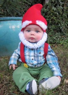 Garden gnome baby costume. adorable for Halloween