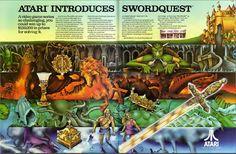 Atari introduces Swordquest   Atari video games