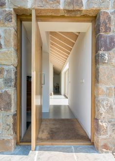 Laura Álvarez Architecture turns stone ruin into zero-energy Villa Slow Home Building Design, House Design, Dream Decor, Farm Design, Green Architect, Modern Cabin, Stone Houses, Timber House, Neutral Interiors