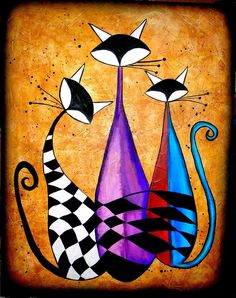 Three Cats by Fernando Garcia - 711 x 900