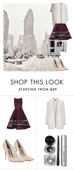 """""""Fur Elise"""" by miz-watermelon ❤ liked on Polyvore featuring Alice + Olivia, Topshop, Sophia Webster and Bobbi Brown Cosmetics"""