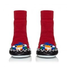 Polly. Unisex anti slip, supportive moccasins for children. Available now at www.moccis.co.uk