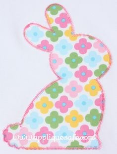 Zig Zag Bunny Applique Design - applique cafe