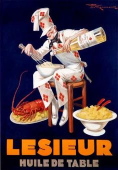 My other kitchen art idea... vintage French food poster!