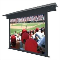 """Twin-Vu Lectric II Motorized Screen - 133"""" diagonal HDTV Format by Vutec. $2543.99. 01-L2065-116TV Features: -Standard 12'' black leader (custom lengths available).-Interfaces with low voltage relays, IR, RF and RS-232 remote controls.-Interfaces with low voltage relays, IR and RF remote controls.-Service door and trap doors are standard.-Plenum Rated - suitable for air handling spaces.-Flush Ceiling Mount Screen with Trap Door / Self-Supported Surfaces.-Extruded a..."""
