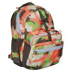 Backpack Lunchkit Combo Orange Camo