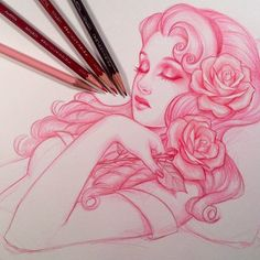 pink-and-only-pink:  Pink art; Sleeping Beauty Tattoo