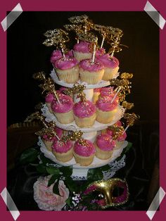 Yummy Masquerade Party Cupcakes
