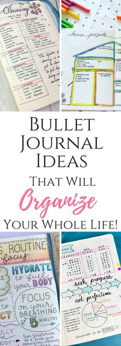Bullet Journal Ideas to organize every area of your life! #organizing #bulletjournal