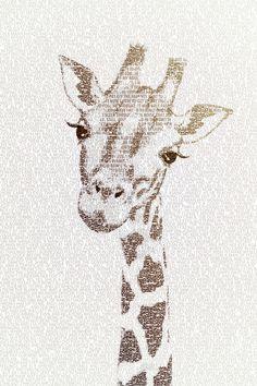 The Intellectual Giraffe Art Print