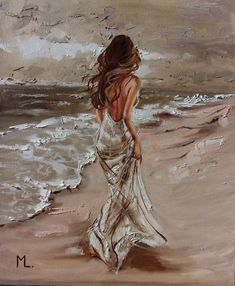 Monika Luniak - Paintings for Sale Art Abstrait, Beautiful Paintings, Romantic Paintings, Portrait Art, Oil Painting On Canvas, Painting Inspiration, Female Art, Art Girl, Amazing Art