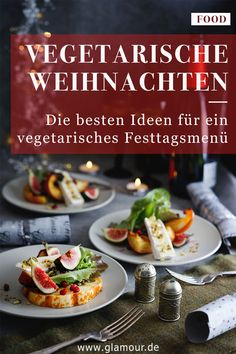 INSPO - Weihnachten The best ideas for a vegetarian Christmas dinner Vegetarian Christmas Menu, Lacto Vegetarian Diet, Mets, Pasta, Base Foods, Different Recipes, Food Videos, Family Meals, The Best