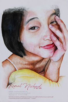 A MORNING SMILE | Water Color Portrait Painting | Kamal Nishad