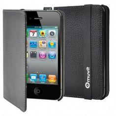 muvit Luxe Leder Case im Buchformat für iPhone bei StyleMyPhone. Samsung, Leather Accessories, Iphone 4s, Slipcovers, Iphone 4