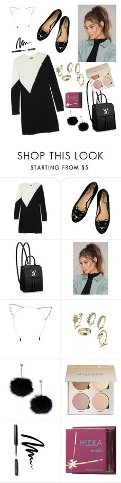 """""""⚫️🐱⚫️"""" by hayatbabay ❤ liked on Polyvore featuring Vince Camuto, Louis Vuitton, NA-KD, Cara, Kate Spade, Bobbi Brown Cosmetics and Benefit"""