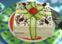 κύρια φωτογραφία συνταγής Αλμυρή τούρτα με ψωμί του τοστ Crochet Waffle Stitch, Waffles, Cooking Recipes, Pudding, Desserts, Food, Tailgate Desserts, Meal, Food Recipes