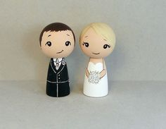 Blonde Bride Wedding Cake Toppers by licoricewits on Etsy, $54.00