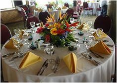 Tropical Flowers Wedding Centerpiece - Beach - Centerpiece Photos