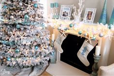 Happy Friday! I hope everyone had a wonderful Christmas! Today I wanted to share my Coastal Christmas Decor with you! Enjoy! Feather Wreath from Target. Tree Skirt from Wisteria.com Sta…