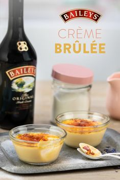 How do you refresh a classic dessert for spring? Add Baileys of course. You'll never make Crème Brûlée the same way again.   Fun Baking Recipes, Sweet Recipes, Cooking Recipes, Just Desserts, Delicious Desserts, Yummy Food, Brulee Recipe, Web Design, Classic Desserts
