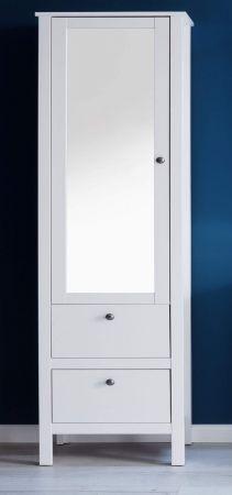 Bad Hochschrank Ole Weiss Mit Spiegeltur Badezimmer Hochschrank