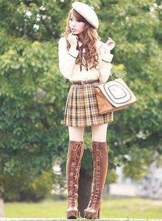 So I kind if really love the whole foreign child-like fashion scene. I think it's really cute