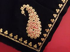 Gota patti paisley shawl Back in stock!  To order call 9958836354 Or write to us at hello@richadesigns.in