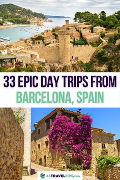 On this list, you'll find the best day trips from Barcelona, Spain. Just an hour or two away from the lively metropolis lie golden beaches, sacred mountains, peculiar monasteries, quaint Catalan villages, breathtaking national parks, and a whole host of verdant vineyards. | Barcelona Day Trips | Day Tours from Barcelona | Day Trips from Barcelona Spain | One Day Tours from Barcelona | Full Day Tours Barcelona Spain European Travel Tips, European Vacation, Travel Europe, Backpacking Europe, Barcelona Travel, Barcelona Spain, Portugal Travel, Spain And Portugal, Spain Road Trip