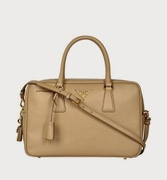 beige leather prada purse